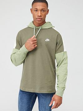 Nike Nike Overhead Jersey Hoodie - Olive Picture