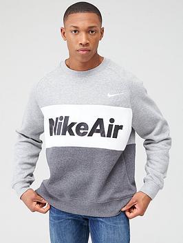 Nike Nike Air Fleece Crew Sweat - Dark Grey Picture