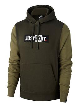Nike Nike Just Do It Logo Hoodie - Green Picture