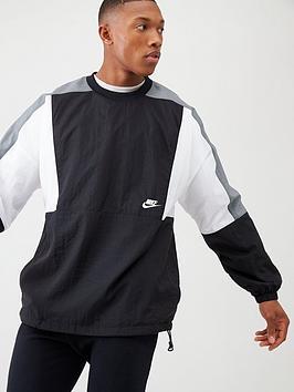 Nike Nike Woven Colour Block Crew - Black/White Picture