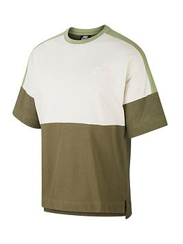 Nike Nike Short Sleeve Jersey Top - Olive Picture