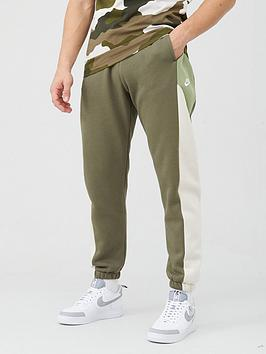 Nike Nike Colourblock Fleece Pants - Olive Picture