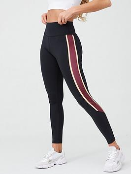 V by Very V By Very Activewear Contrast Panel Leggings - Black/Pink Picture