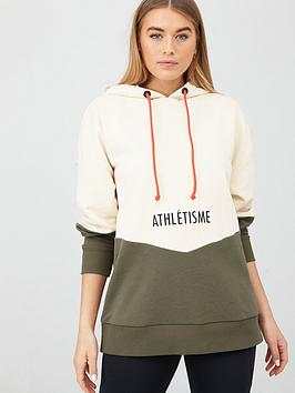 V by Very V By Very Colour Block Oversized Hoodie - Cream Khaki Picture