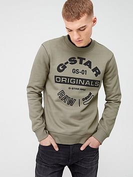 G-Star Raw G-Star Raw Originals Logo Sweatshirt - Green Picture