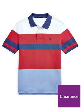 ralph-lauren-boys-short-sleeve-colour-block-polo-shirt-red