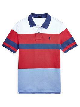Ralph Lauren Ralph Lauren Boys Short Sleeve Colour Block Polo Shirt - Red Picture