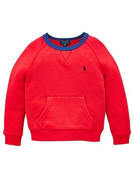 Ralph Lauren Ralph Lauren Boys Classic Crew Sweatshirt - Red Picture