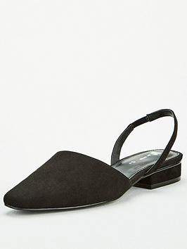 V by Very V By Very Michelle Two Part Toe Ballerina Shoes - Black Picture
