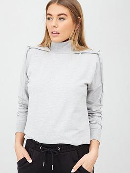 V by Very V By Very Funnel Neck Hoodie - Grey Marl Picture