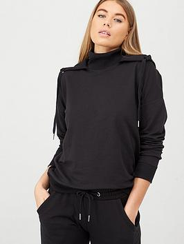 V by Very V By Very Funnel Neck Hoodie - Black Picture