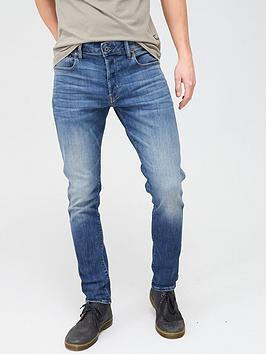 G-Star Raw G-Star Raw 3301 Elto Super Stretch Slim Fit Jeans - Medium Aged  ... Picture
