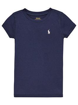 Ralph Lauren Ralph Lauren Girls Classic Short Sleeve T-Shirt - Navy Picture