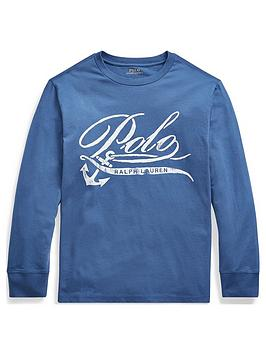 Ralph Lauren Ralph Lauren Boys Long Sleeve Polo Graphic T-Shirt Picture