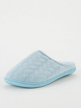 V by Very V By Very Waddle Closed Toe Mule Slipper - Blue Picture