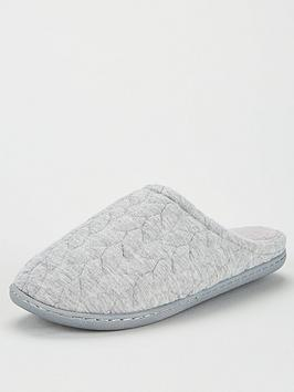 V by Very V By Very Waddle Closed Toe Mule Slippers - Grey Picture