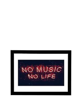 East End Prints East End Prints No Music No Life - A3 Picture