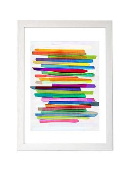 East End Prints East End Prints Colourful Stripes By Mareike Boehmer A3  ... Picture