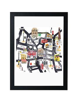 East End Prints East End Prints East London Map By Hennie Haworth - A3 Picture