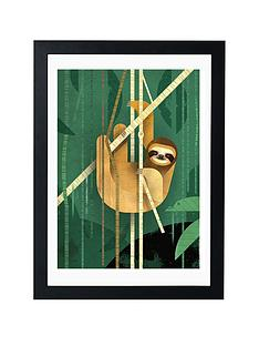 east-end-prints-sloth-by-dieter-braun-a3-framed-wall-art