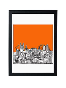 Product photograph showing East End Prints Big Ben And The Eye By Lizzie Prestt