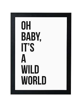 East End Prints East End Prints Oh Baby By Native State Framed Wall Art Picture