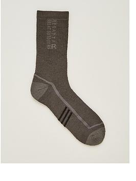 Regatta Regatta 3 Season Trek &Amp; Trail Socks - Iron Picture
