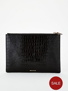 whistles-shiny-croc-medium-clutch-bag