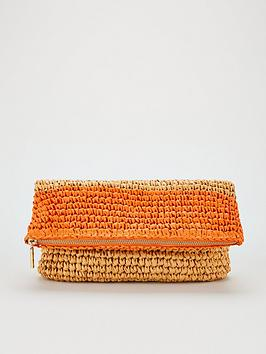 WHISTLES Whistles Straw Colour Block Chapel Bag - Multi Picture