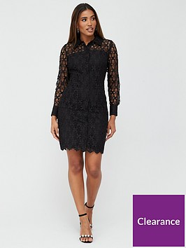 v-by-very-lace-short-shirt-dress-black
