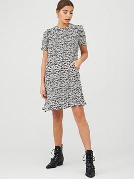WHISTLES Whistles Petal Print Dress - Black/Multi Picture