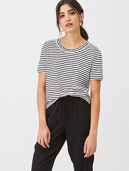 WHISTLES Whistles Rosa Double Trim Stripe T-Shirt - Black/White Picture