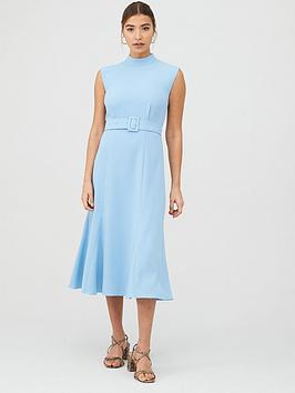 WHISTLES Whistles Penny Belted Dress - Pale Blue Picture
