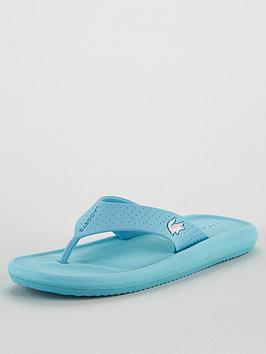 Lacoste Lacoste Croco Sandal 120 Flip Flops - Blue Picture