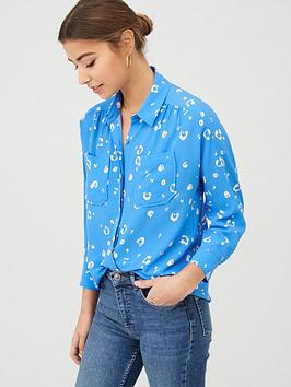 WHISTLES Whistles Watercolour Animal Blouse - Blue/Multi Picture