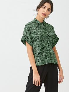whistles-spotted-animal-print-pocket-shirt-green