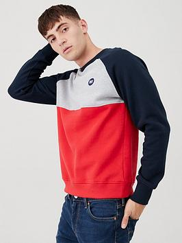Superdry Superdry Collective Colour Block Crew Sweatshirt - Grey  ... Picture
