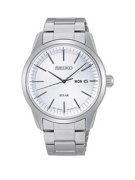 Seiko Seiko Seiko Silver And Blue Detail Daydate Dial Stainless Steel  ... Picture