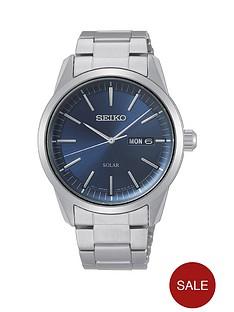 seiko-seiko-blue-sunray-daydate-solar-dial-stainless-steel-bracelet-mens-watch