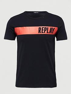 replay-foil-logo-t-shirt-black
