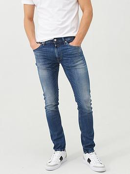 Replay Replay Donny Slim Tapered Fit Light Vintage Wash Jeans - Light Blue Picture