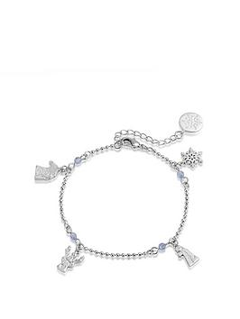Disney Disney Disney Frozen Ii White Gold Plated Character Charm Bracelet Picture