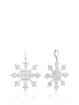 Disney Disney Disney Frozen Ii White Gold Plated Statement Snowflake  ... Picture