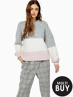topshop-topshop-colour-block-stripe-jumper-multi