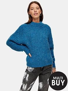 topshop-looking-glass-jumper-blue