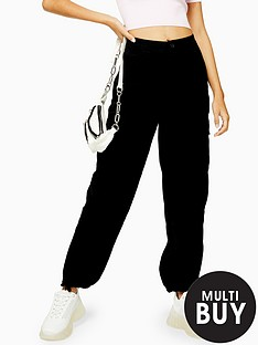 topshop-topshop-cuff-brandy-utility-trousers-black