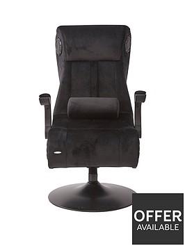 x-rocker-deluxe-41-chenille-x-pro-pedestal-chair-black