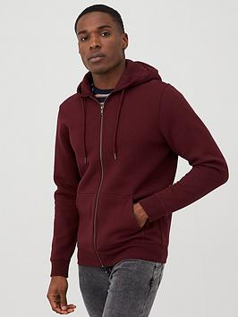 V by Very V By Very Zip Through Hoodie - Burgundy Picture
