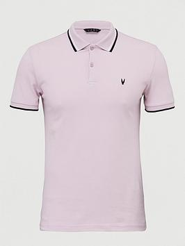 V by Very V By Very Tipped Pique Polo - Lilac Picture