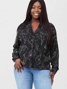 V by Very Curve V By Very Curve Illustrator Blouse - Monochrome Picture